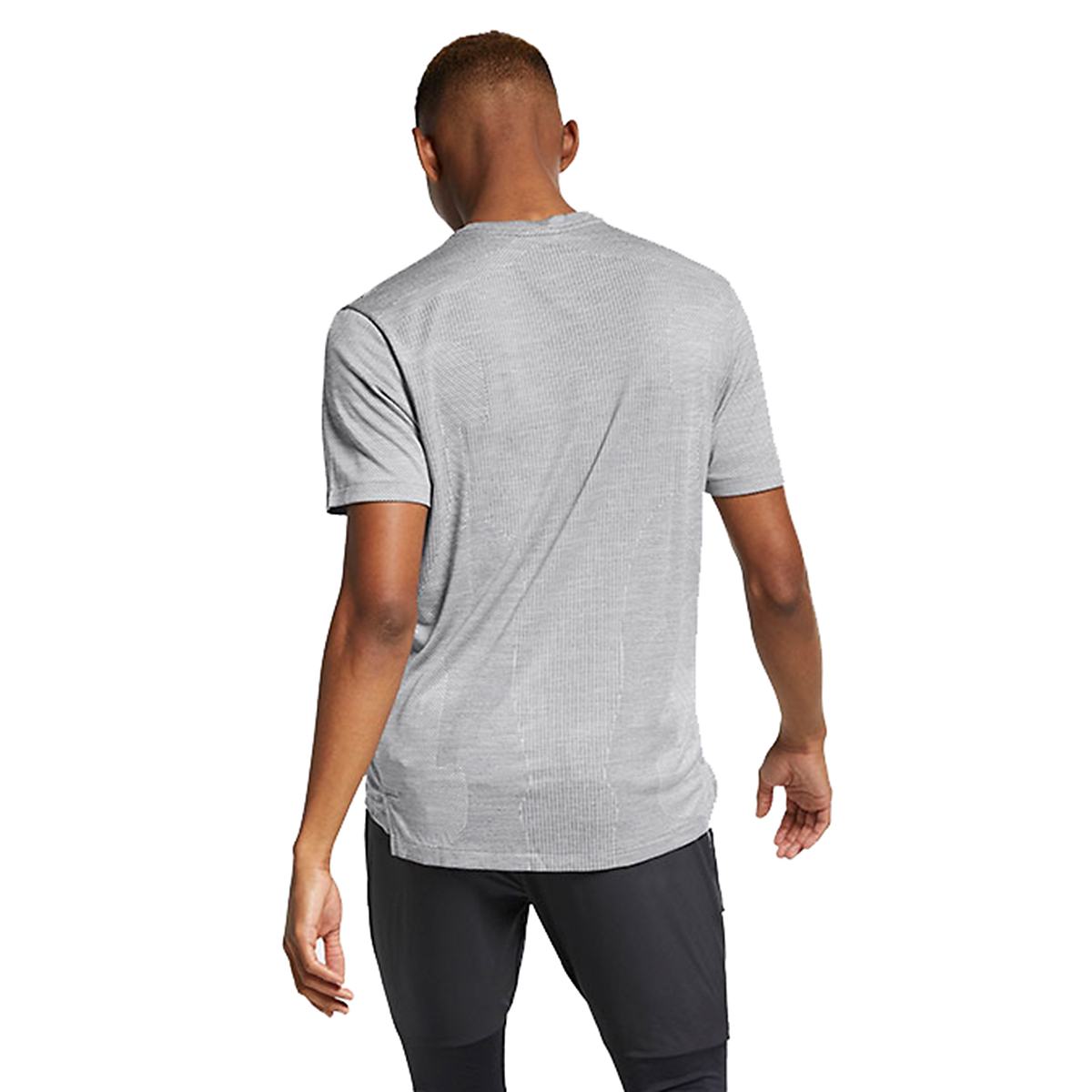 Men's Nike Techknit Ultra Top Short Sleeve Shirt - Color: Gunsmoke/Atmosphere Grey - Size: S, Gunsmoke/Atmosphere Grey, large, image 2