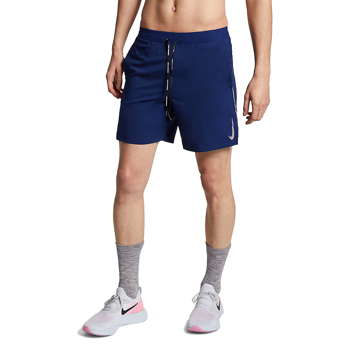 Men's Nike Dri-FIT Flex Stride 7 Inch 2-in-1 Short - Color: Blue Void/Blue Void/Reflective Silver - Size: S, Blue Void/Blue Void/Reflective Silver, large, image 1