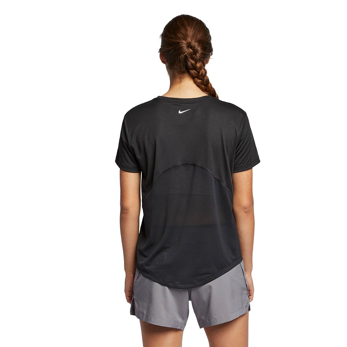 Women's Nike Miler Short Sleeve - Color: Black - Size: XS - Width:, Black, large, image 2