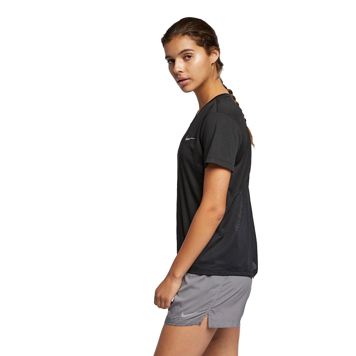 Women's Nike Miler Short Sleeve - Color: Black - Size: XS - Width:, Black, large, image 3