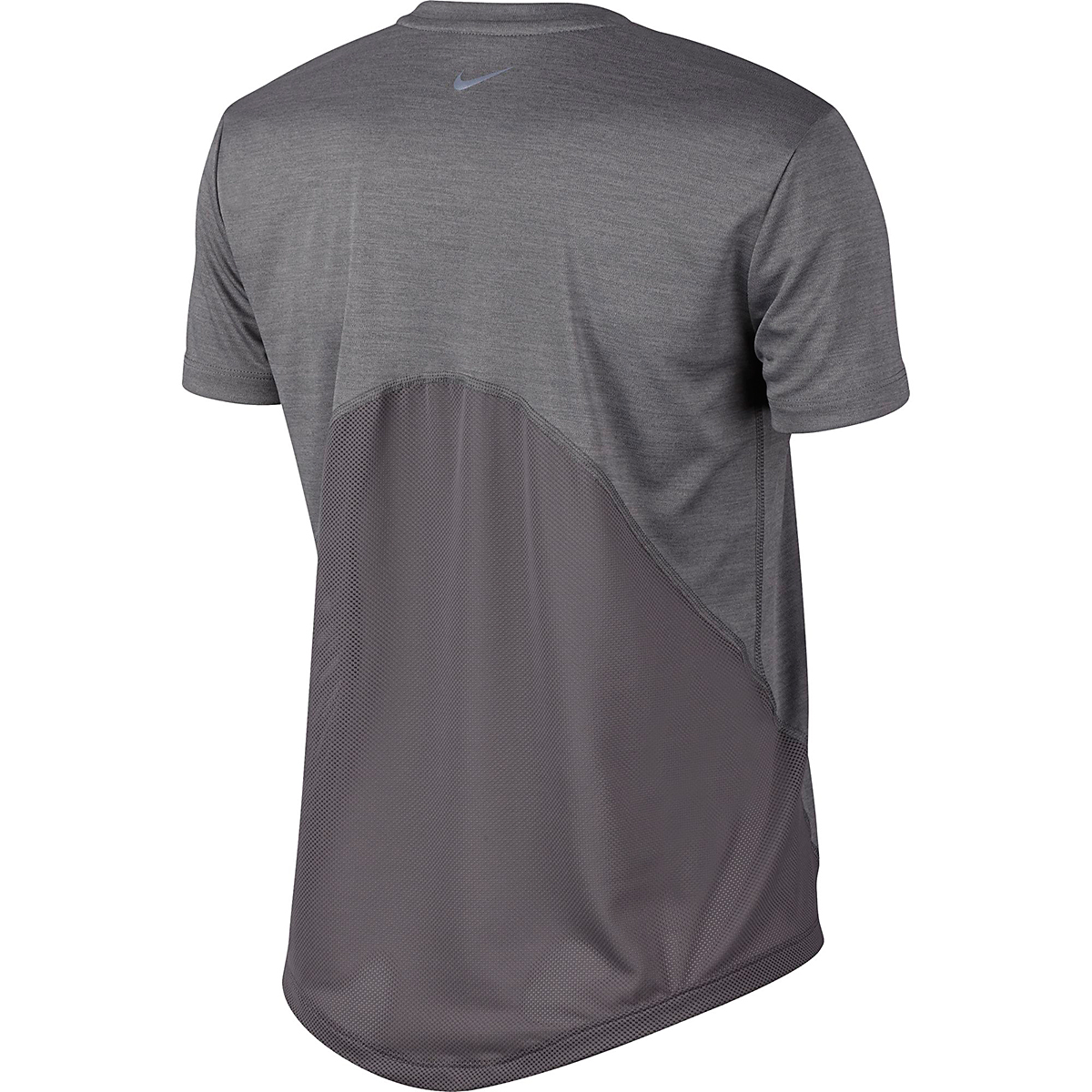 Women's Nike Miler Short Sleeve - Color: Gunsmoke/Heather/Heather - Size: XS, Gunsmoke/Heather/Heather, large, image 2