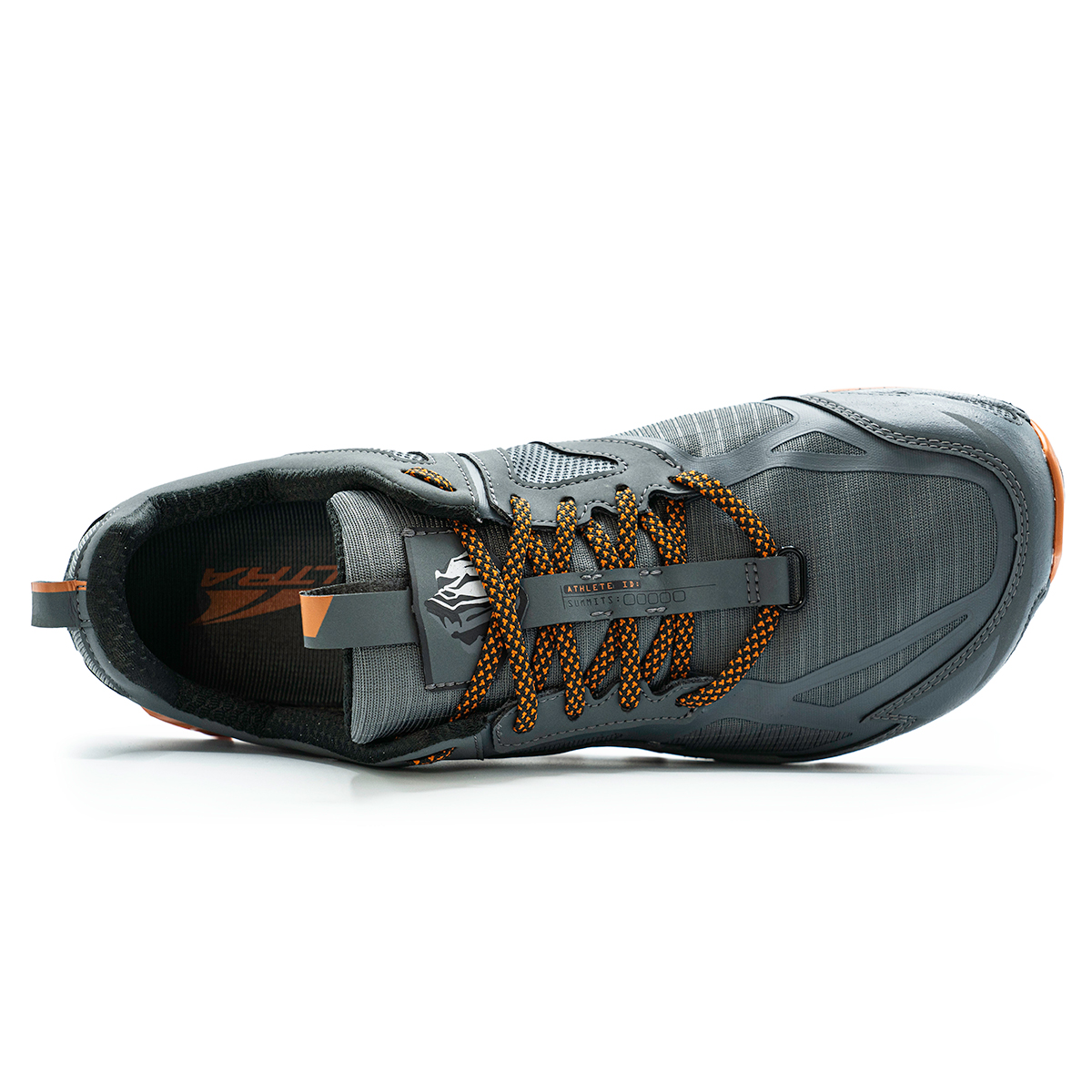 Men's Altra Lone Peak 4.5 Low Trail Running Shoe - Color: Gray/Orange - Size: 10 - Width: Regular, Gray/Orange, large, image 3