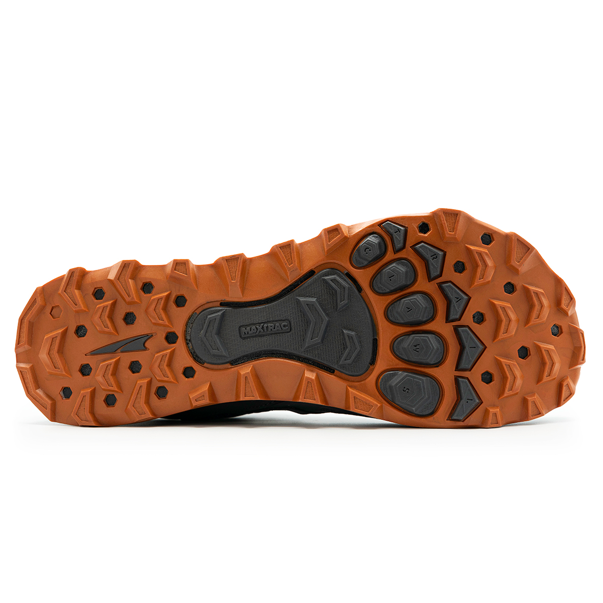Men's Altra Lone Peak 4.5 Low Trail Running Shoe - Color: Gray/Orange - Size: 10 - Width: Regular, Gray/Orange, large, image 4