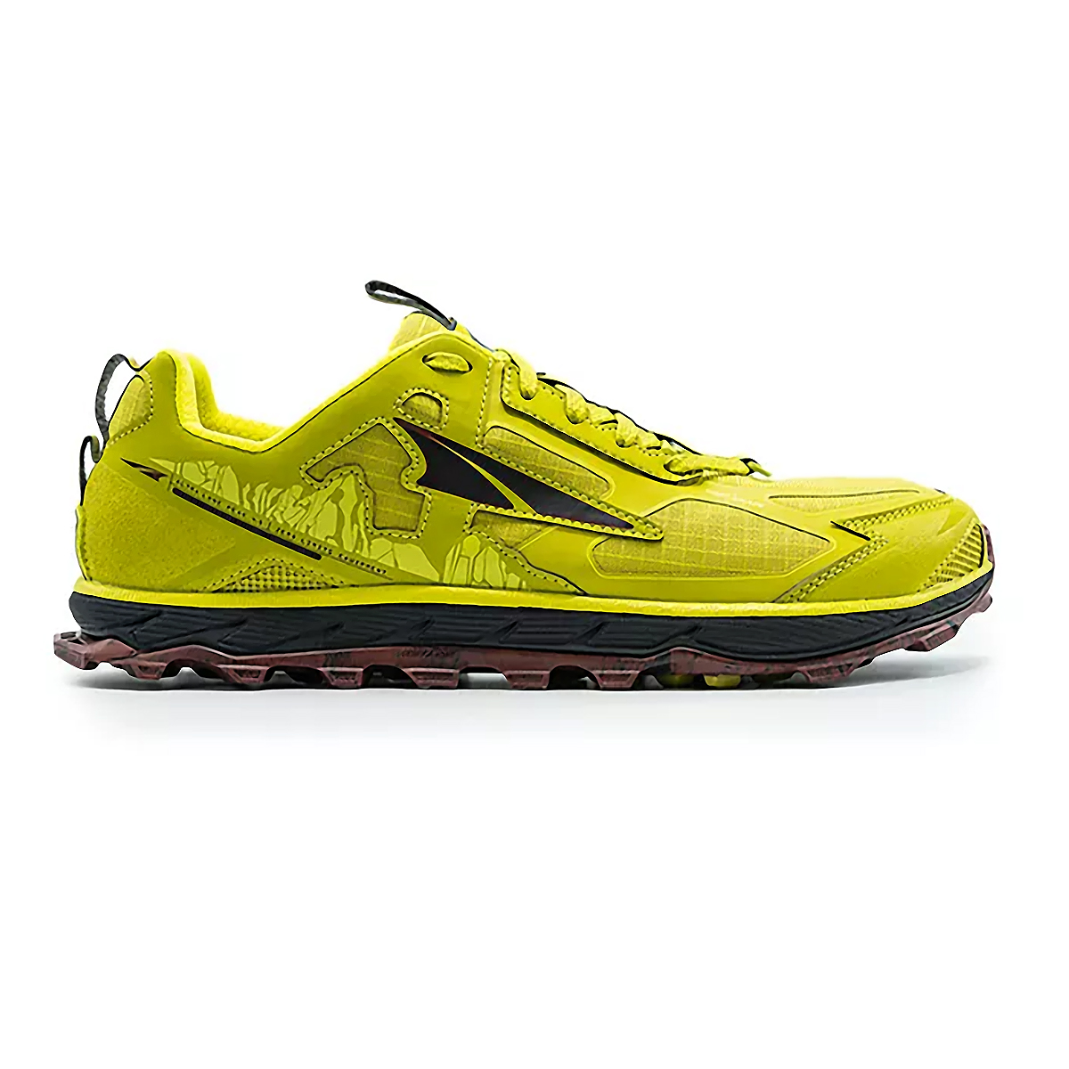 Men's Altra Lone Peak 4.5 Low Trail Running Shoe - Color: Lime/Red - Size: 7 - Width: Regular, Lime/Red, large, image 1