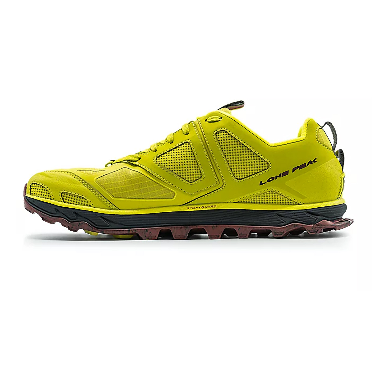 Men's Altra Lone Peak 4.5 Low Trail Running Shoe - Color: Lime/Red - Size: 7 - Width: Regular, Lime/Red, large, image 2