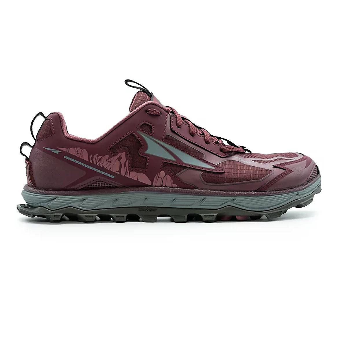 Women's Altra Lone Peak 4.5 Low Trail Running Shoe - Color: Dark Port - Size: 5.5 - Width: Regular, Dark Port, large, image 1