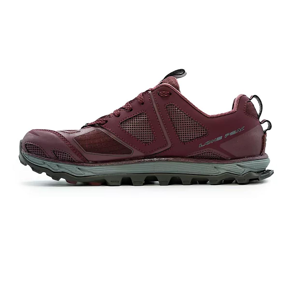 Women's Altra Lone Peak 4.5 Low Trail Running Shoe - Color: Dark Port - Size: 5.5 - Width: Regular, Dark Port, large, image 2
