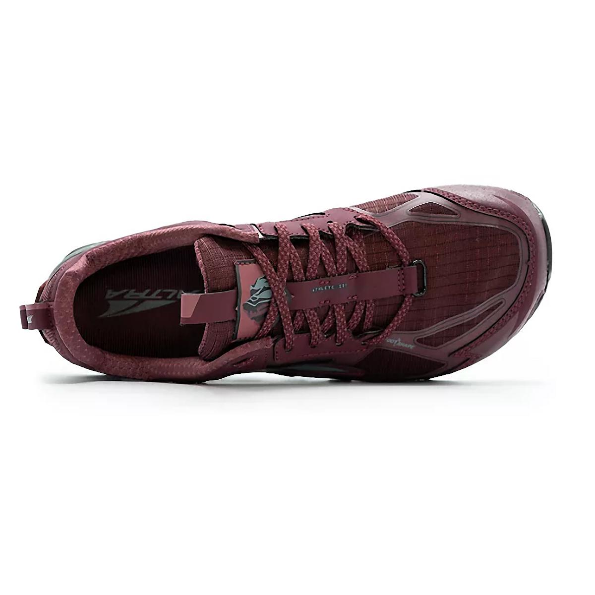 Women's Altra Lone Peak 4.5 Low Trail Running Shoe - Color: Dark Port - Size: 5.5 - Width: Regular, Dark Port, large, image 3
