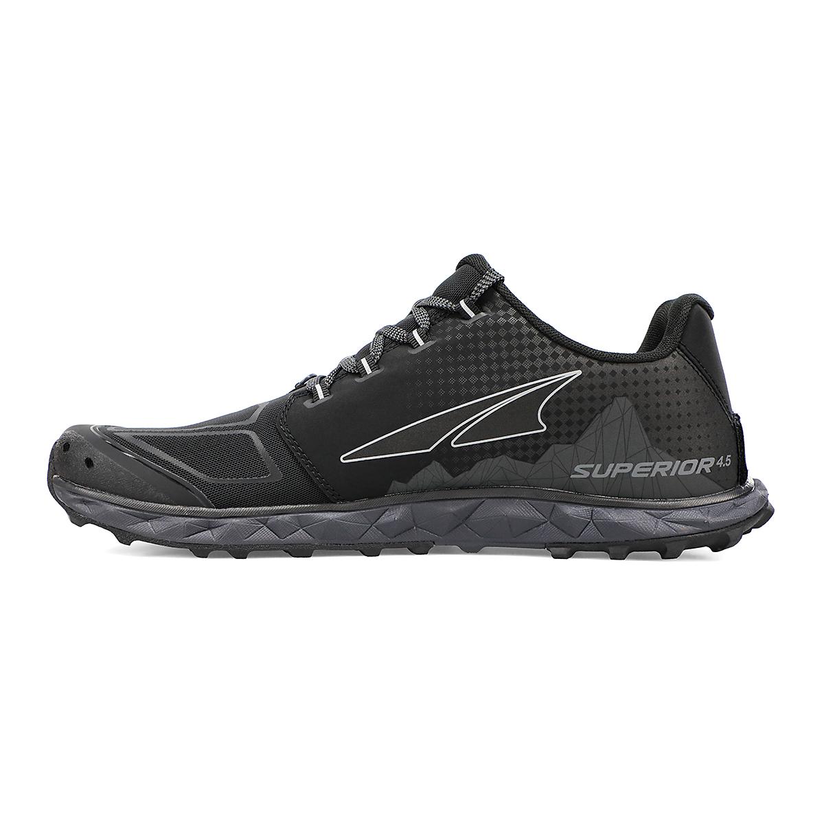 Men's Altra Superior 4.5 Trail Running Shoe - Color: Black - Size: 7 - Width: Regular, Black, large, image 2