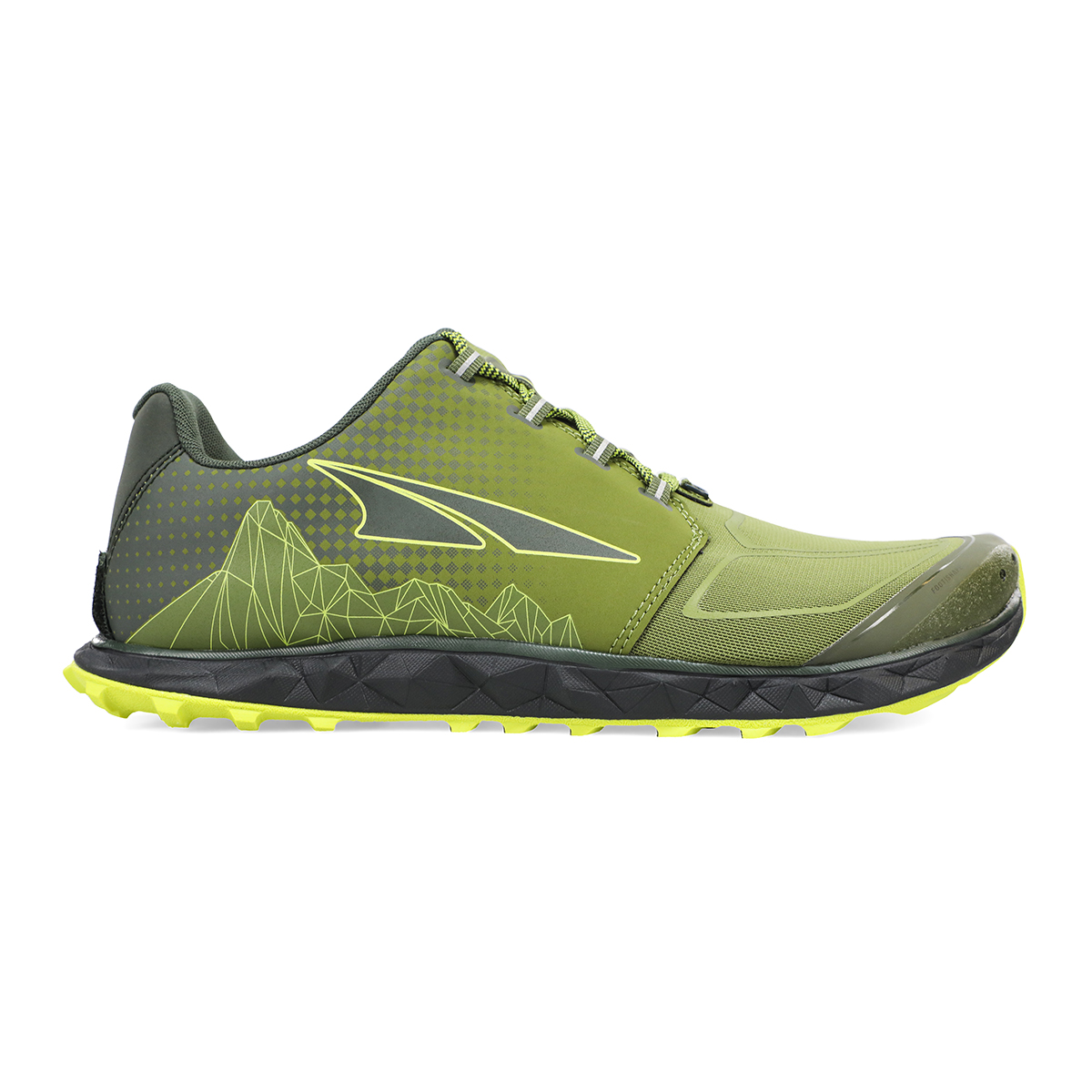Men's Altra Superior 4.5 Trail Running Shoe - Color: Green/Lime - Size: 7 - Width: Regular, Green/Lime, large, image 1