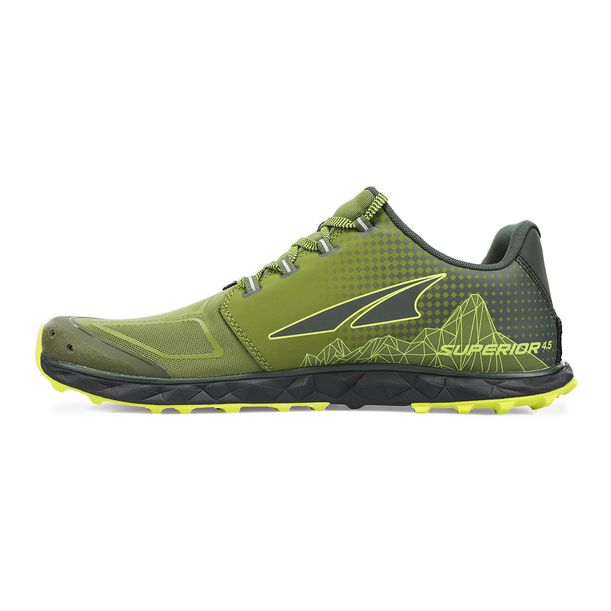 Men's Altra Superior 4.5 Trail Running Shoe - Color: Green/Lime - Size: 7 - Width: Regular, Green/Lime, large, image 2