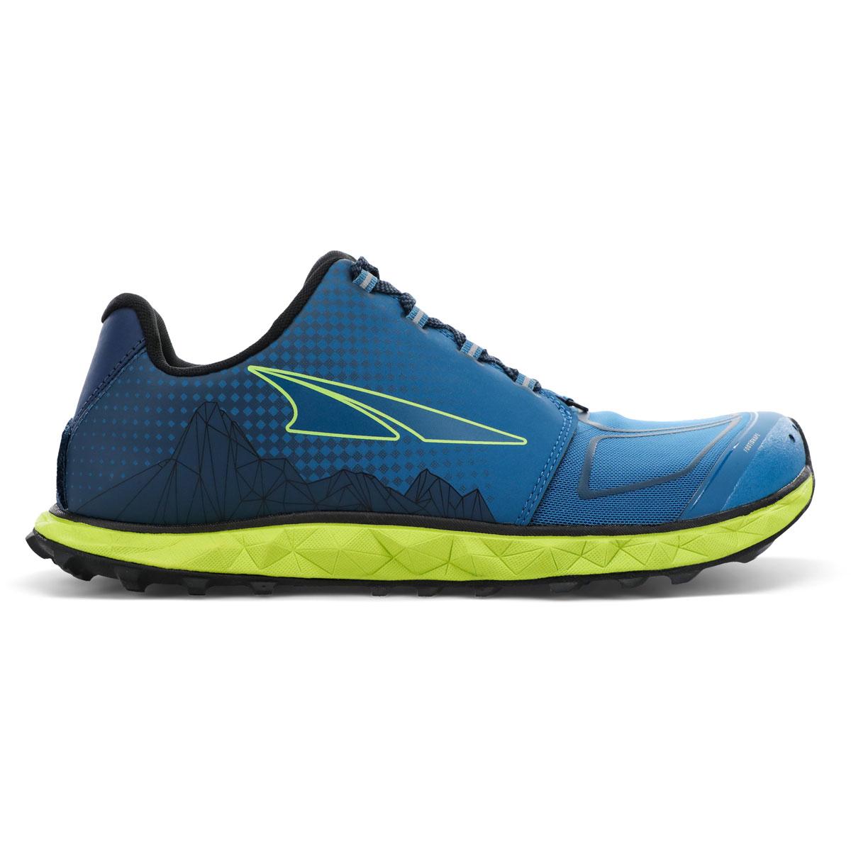 Men's Altra Superior 4.5 Trail Running Shoe - Color: Blue/Lime - Size: 7 - Width: Regular, Blue/Lime, large, image 1