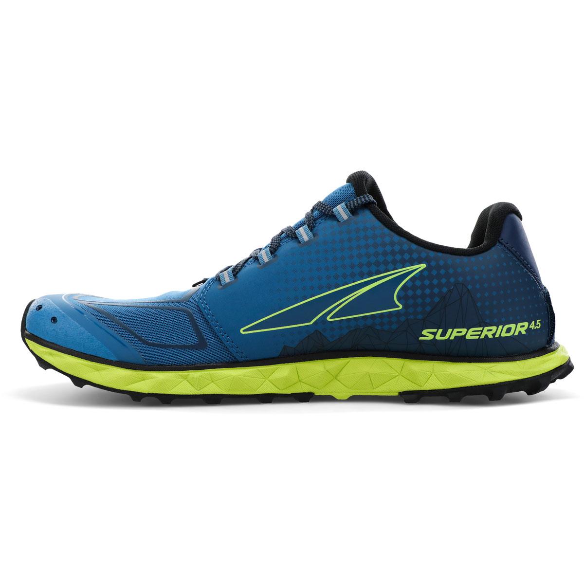 Men's Altra Superior 4.5 Trail Running Shoe - Color: Blue/Lime - Size: 7 - Width: Regular, Blue/Lime, large, image 2