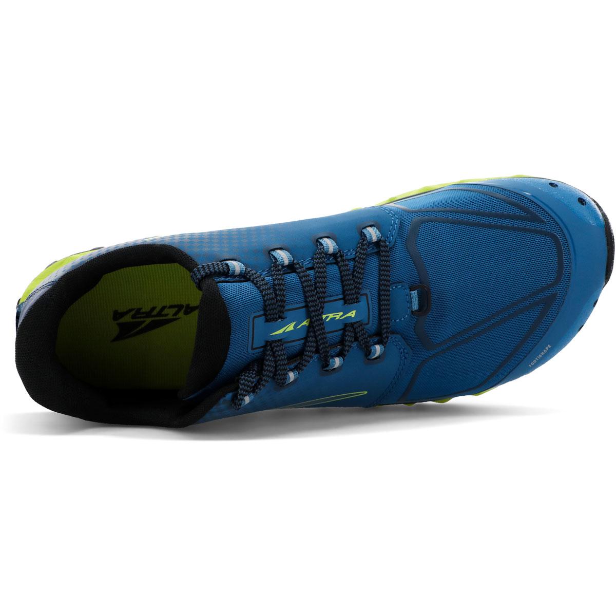 Men's Altra Superior 4.5 Trail Running Shoe - Color: Blue/Lime - Size: 7 - Width: Regular, Blue/Lime, large, image 3