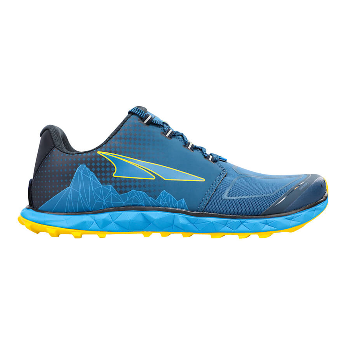 Men's Altra Superior 4.5 Trail Running Shoe - Color: Blue/Yellow - Size: 7 - Width: Regular, Blue/Yellow, large, image 1