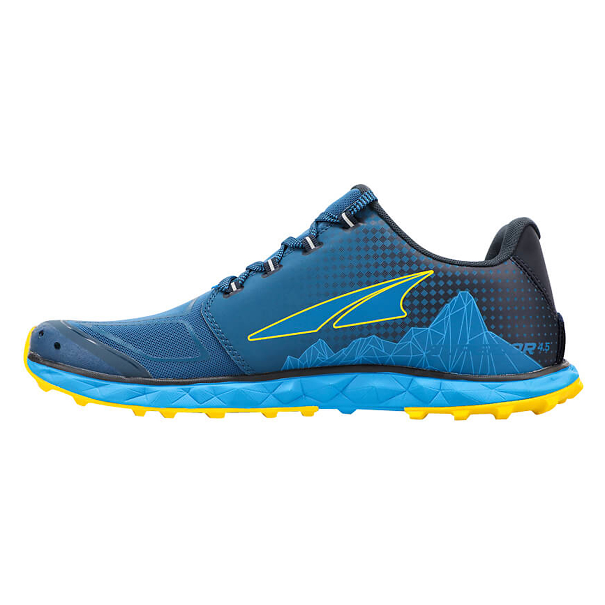 Men's Altra Superior 4.5 Trail Running Shoe - Color: Blue/Yellow - Size: 7 - Width: Regular, Blue/Yellow, large, image 2