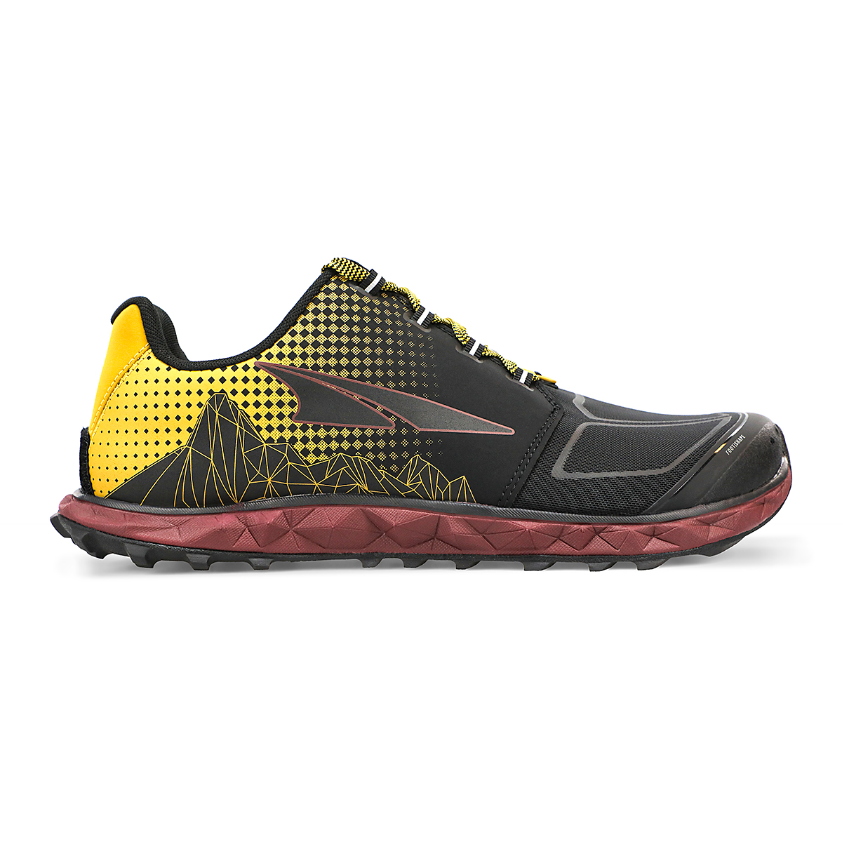 Men's Altra Superior 4.5 Trail Running Shoe - Color: Yellow/Port - Size: 7 - Width: Regular, Yellow/Port, large, image 1