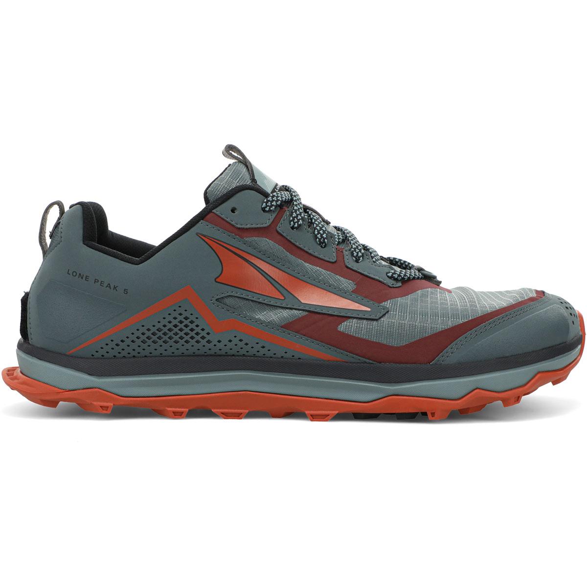 Men's Altra Lone Peak 5 Trail Running Shoe - Color: Gray/Orange - Size: 7 - Width: Regular, Gray/Orange, large, image 1
