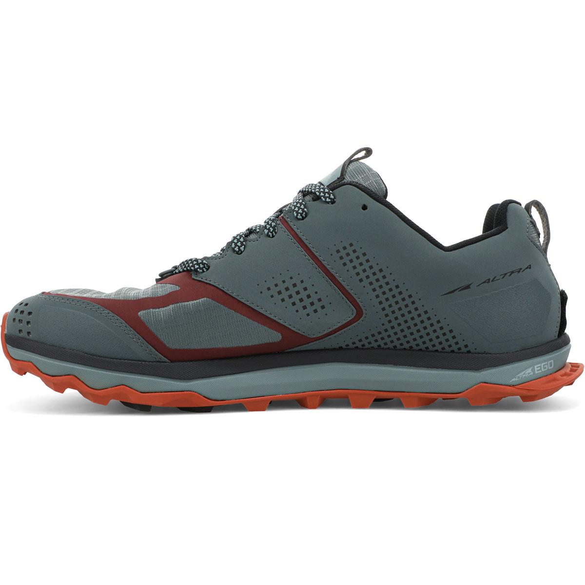 Men's Altra Lone Peak 5 Trail Running Shoe - Color: Gray/Orange - Size: 7 - Width: Regular, Gray/Orange, large, image 2