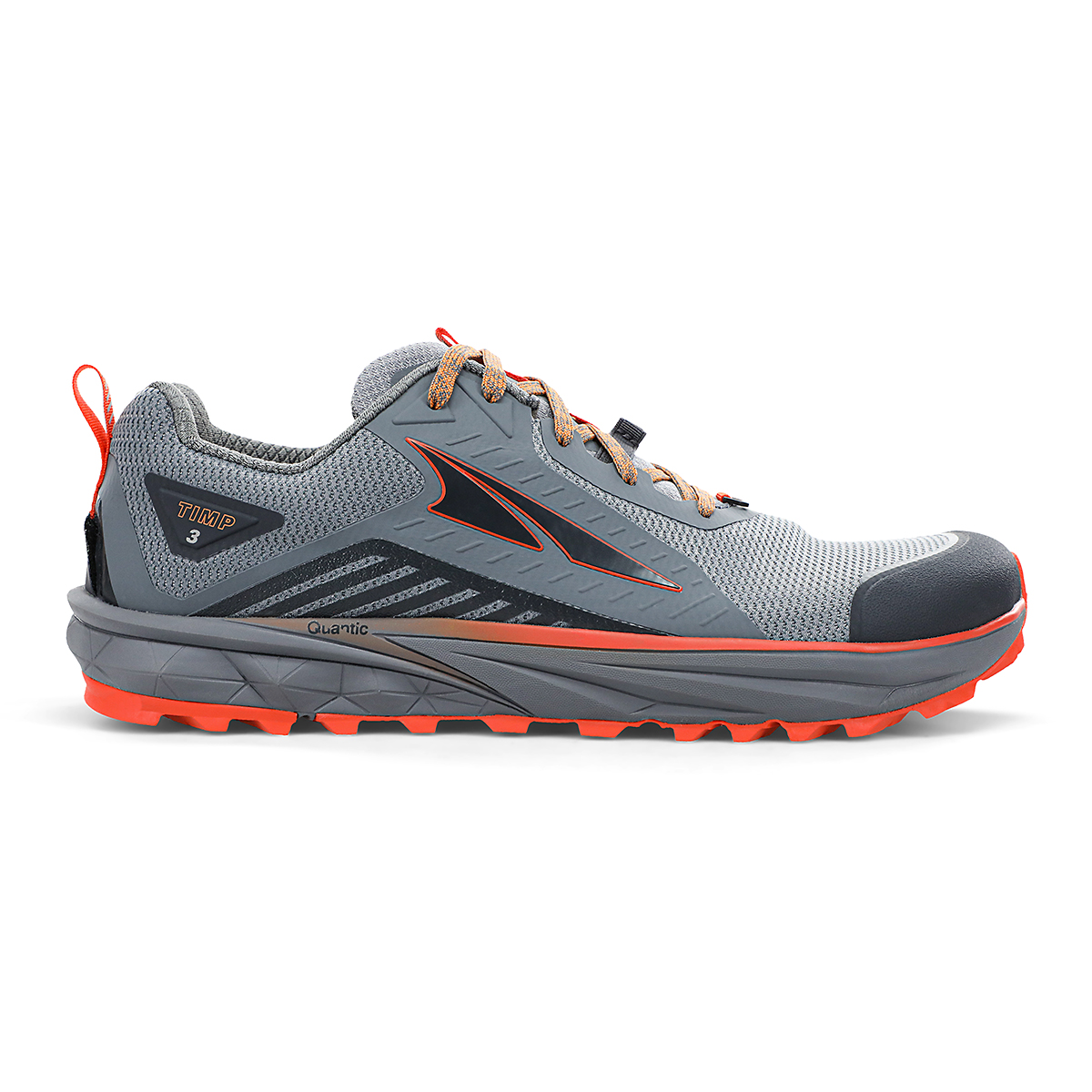 Men's Altra Timp 3 Trail Running Shoe - Color: Gray/Orange - Size: 7 - Width: Regular, Gray/Orange, large, image 1