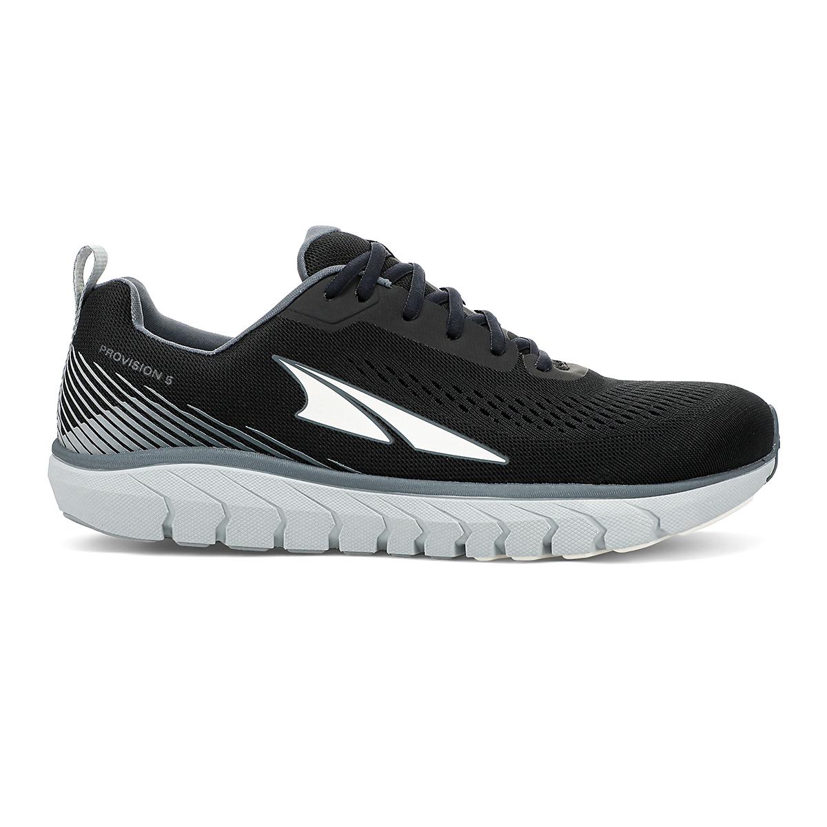 Men's Altra Provision 5 Running Shoe - Color: Black/Gray - Size: 8 - Width: Regular, Black/Gray, large, image 1