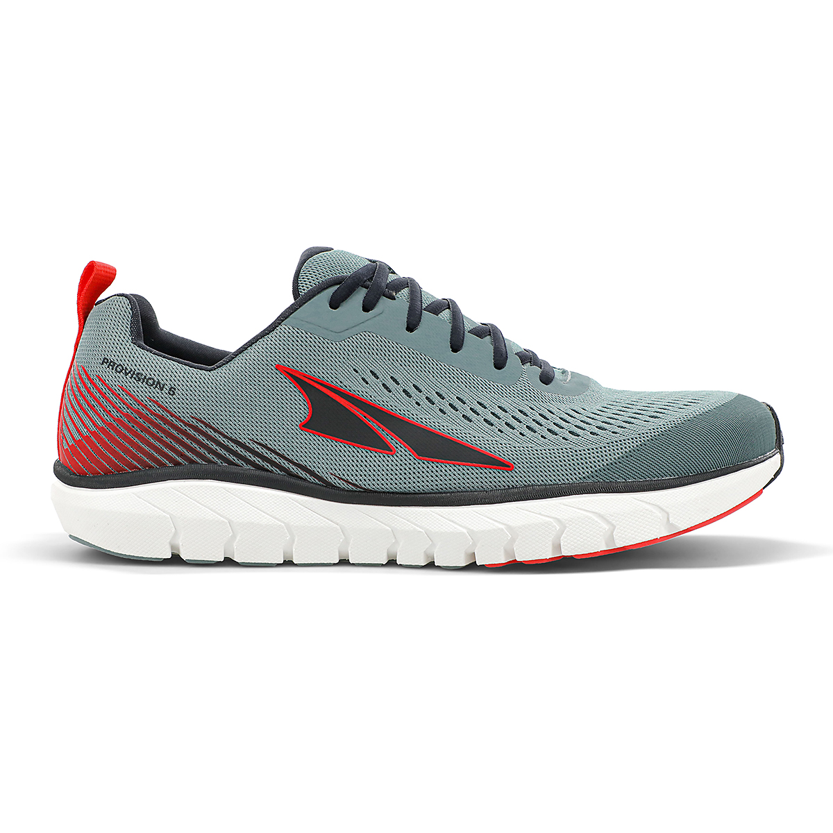 Men's Altra Provision 5 Running Shoe - Color: Light Gray/Red - Size: 7 - Width: Regular, Light Gray/Red, large, image 1
