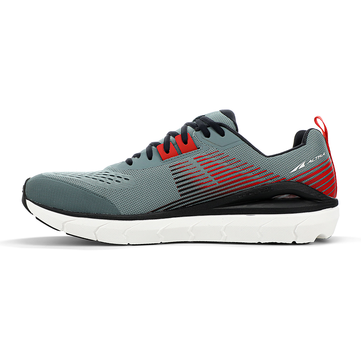 Men's Altra Provision 5 Running Shoe - Color: Light Gray/Red - Size: 7 - Width: Regular, Light Gray/Red, large, image 2