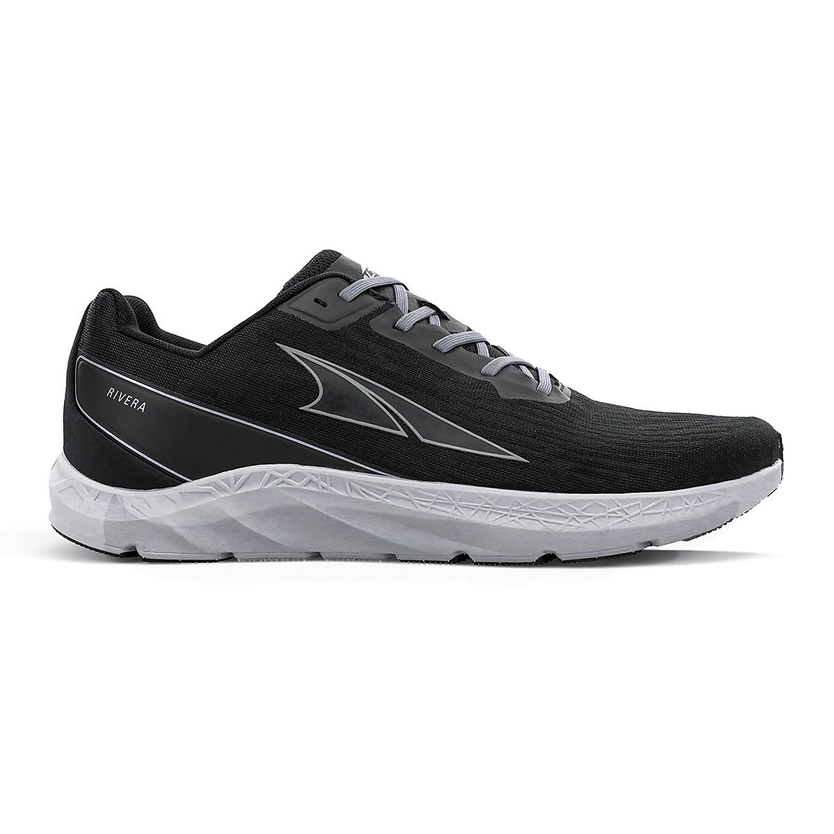 Men's Altra Rivera Running Shoe - Color: Black/Gray - Size: 7 - Width: Regular, Black/Gray, large, image 1