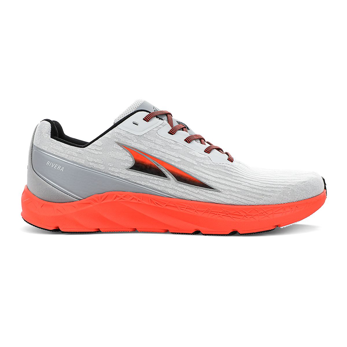 Men's Altra Rivera Running Shoe - Color: Gray/Orange - Size: 7 - Width: Regular, Gray/Orange, large, image 1
