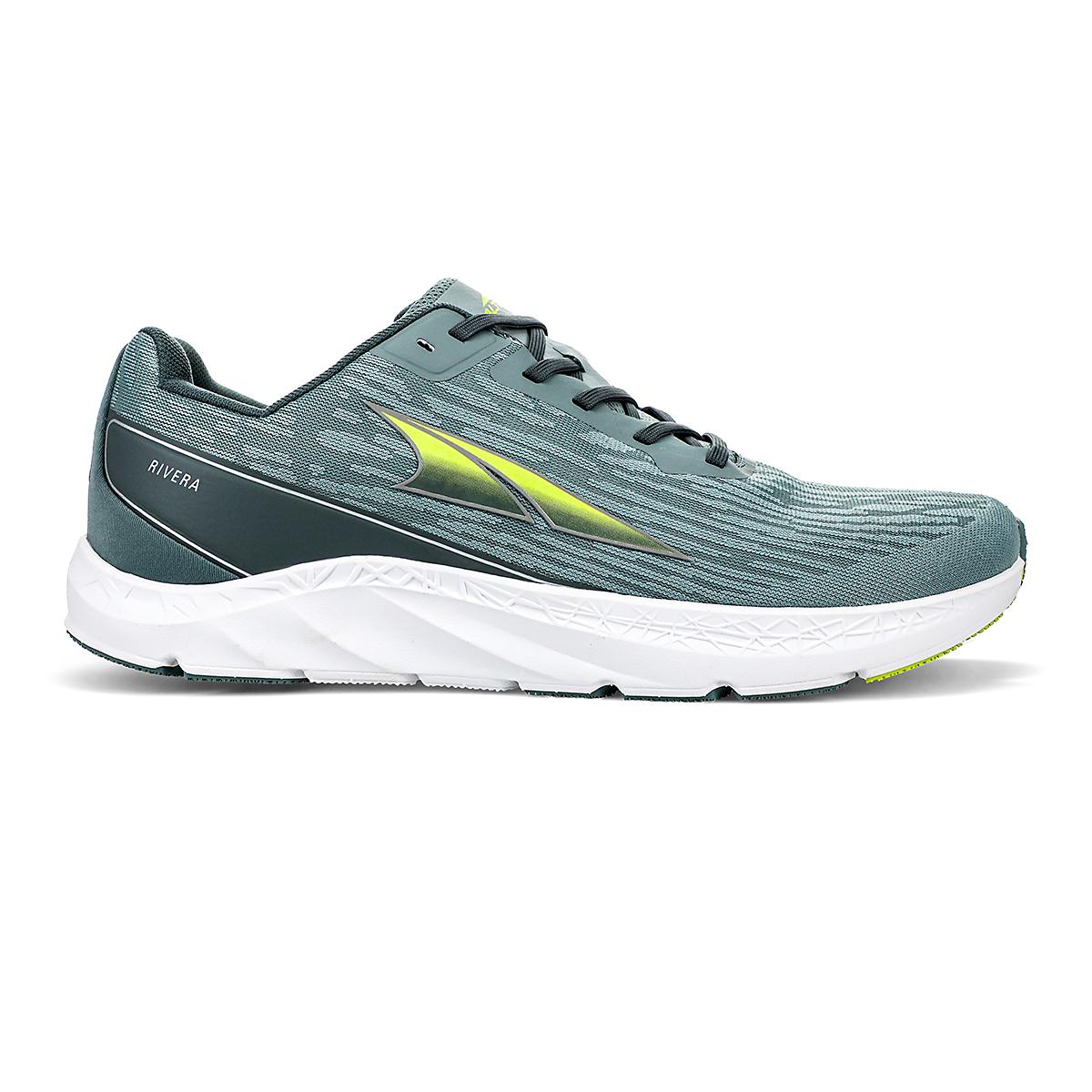 Men's Altra Rivera Running Shoe - Color: Green - Size: 7 - Width: Regular, Green, large, image 1