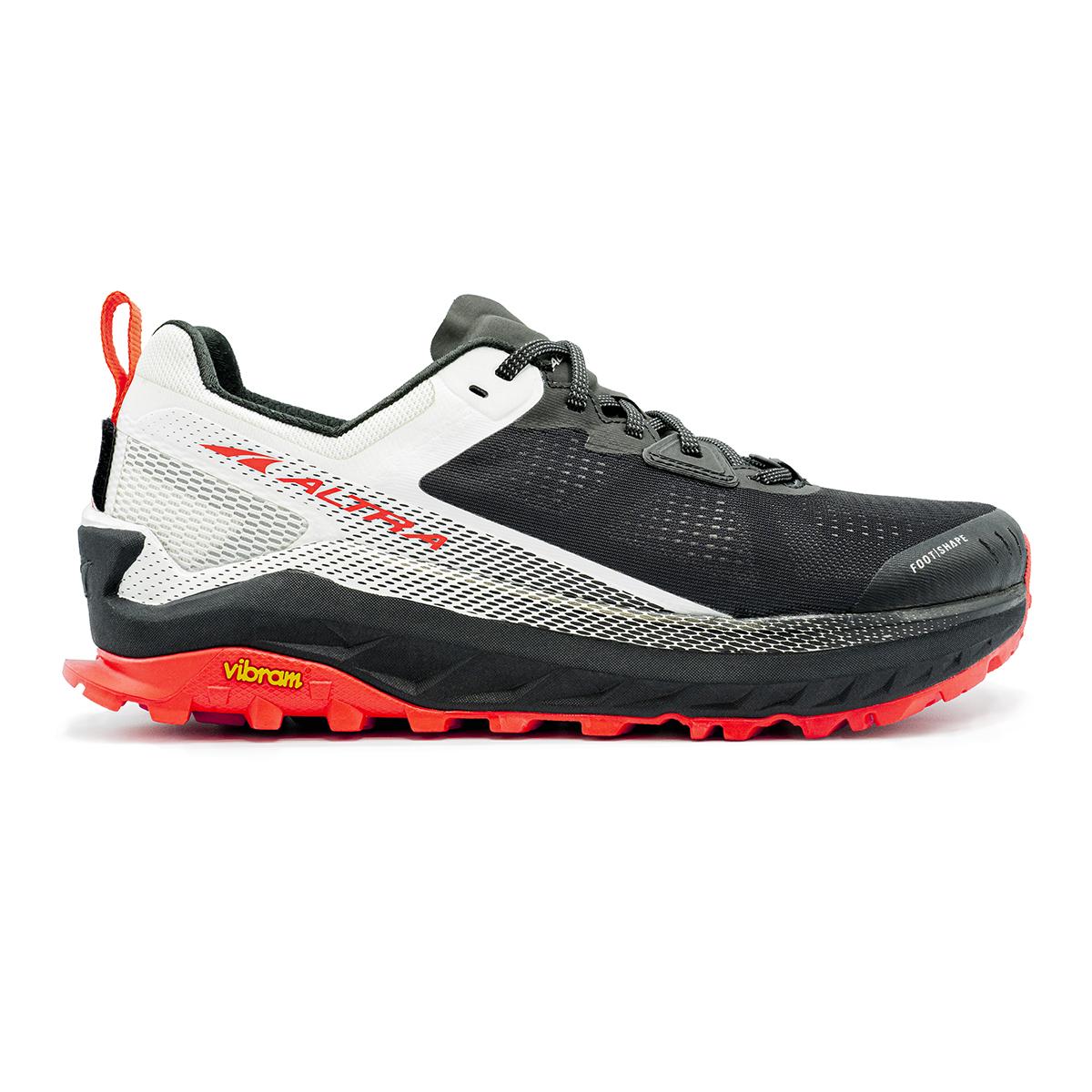 Men's Altra Olympus 4 Trail Running Shoe - Color: Black/White - Size: 12 - Width: Regular, Black/White, large, image 1