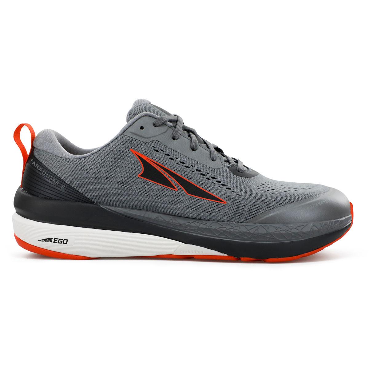 Men's Altra Paradigm 5 Running Shoe - Color: Gray/Orange - Size: 9.5 - Width: Regular, Gray/Orange, large, image 1