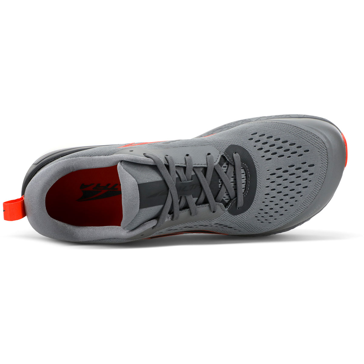Men's Altra Paradigm 5 Running Shoe - Color: Gray/Orange - Size: 7 - Width: Regular, Gray/Orange, large, image 3