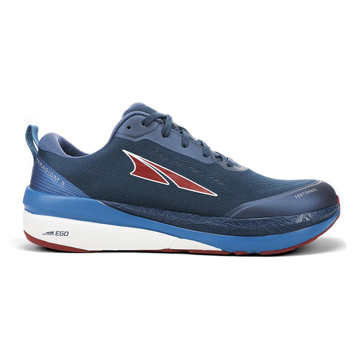 Men's Altra Paradigm 5 Running Shoe - Color: Blue Red - Size: 8.5 - Width: Regular, Blue Red, large, image 1