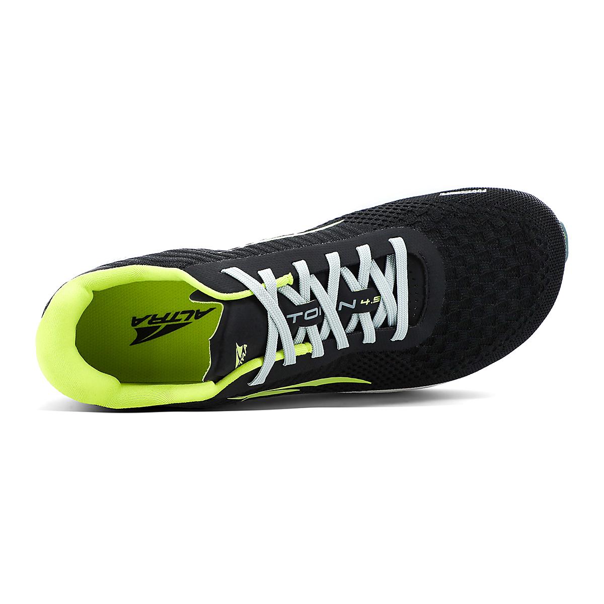 Men's Altra Torin 4.5 Plush Running Shoe - Color: Black/Lime - Size: 7 - Width: Regular, Black/Lime, large, image 3