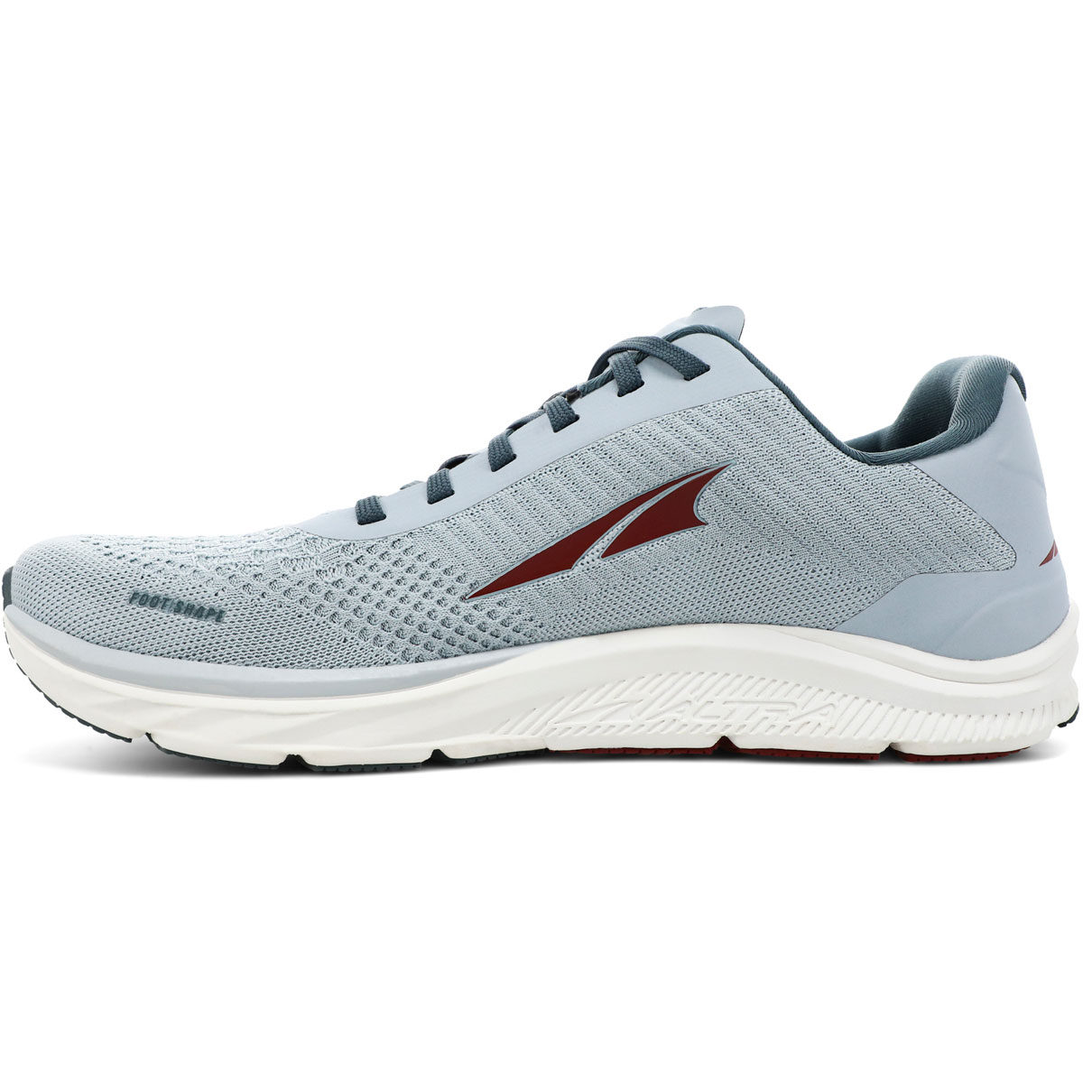 Men's Altra Torin 4.5 Plush Running Shoe - Color: Light Gray/Red - Size: 7 - Width: Regular, Light Gray/Red, large, image 2