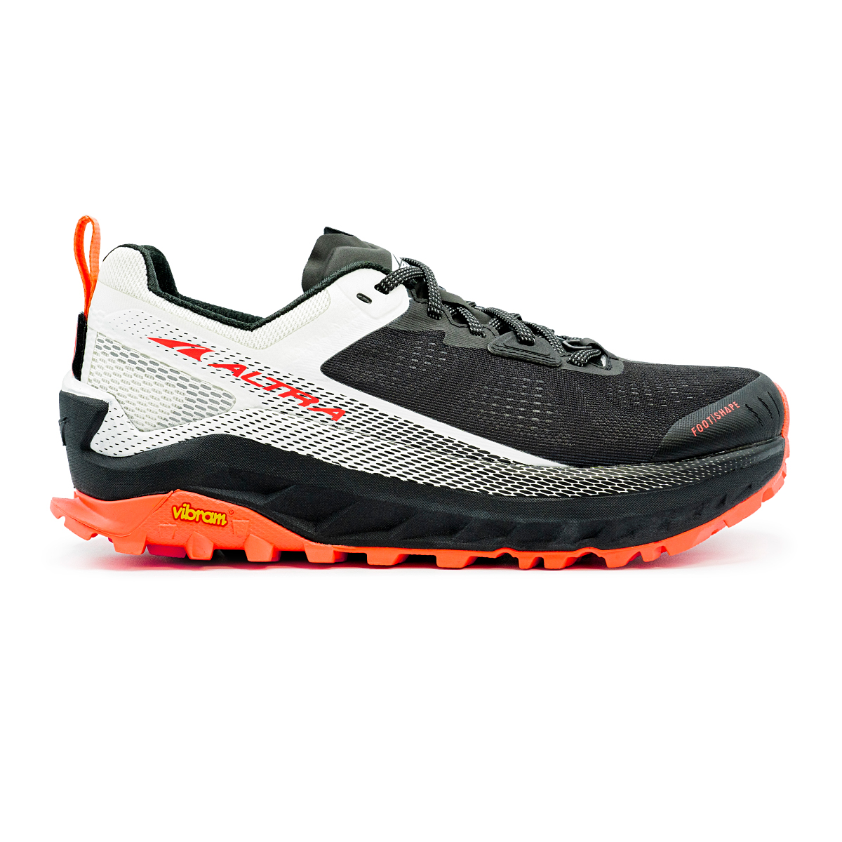 Women's Altra Olympus 4 Trail Running Shoe - Color: Black/White - Size: 9 - Width: Regular, Black/White, large, image 1