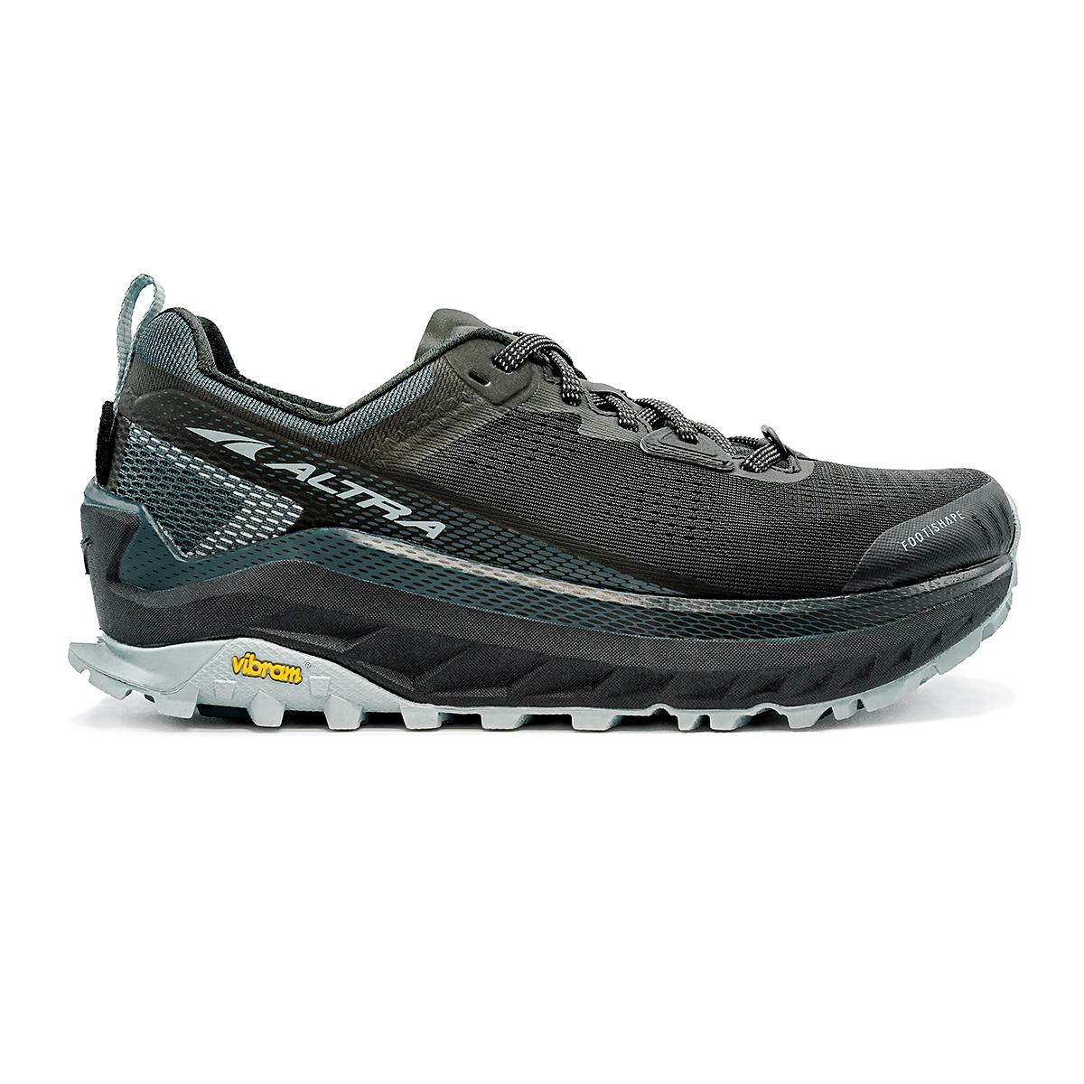 Women's Altra Olympus 4 Trail Running Shoe - Color: Black/Light Blue - Size: 5.5 - Width: Regular, Black/Light Blue, large, image 1