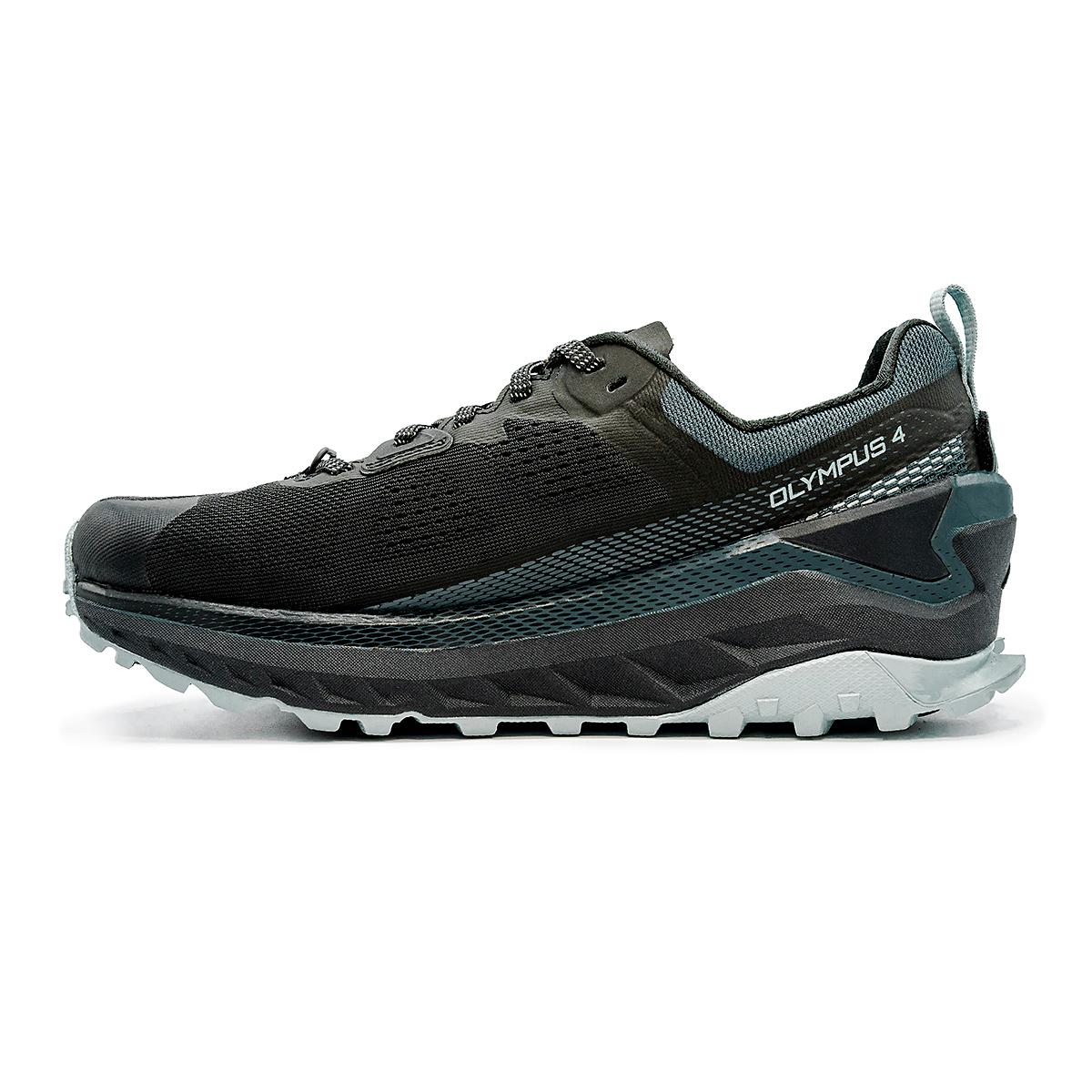 Women's Altra Olympus 4 Trail Running Shoe - Color: Black/Light Blue - Size: 5.5 - Width: Regular, Black/Light Blue, large, image 2