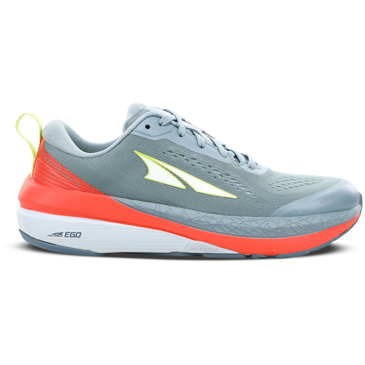 Women's Altra Paradigm 5 Running Shoe - Color: Gray/Coral - Size: 5.5 - Width: Regular, Gray/Coral, large, image 1