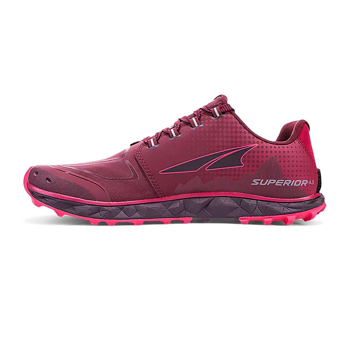 Women's Altra Superior 4.5 Trail Running Shoe - Color: Black/Pink - Size: 6 - Width: Regular, Black/Pink, large, image 2