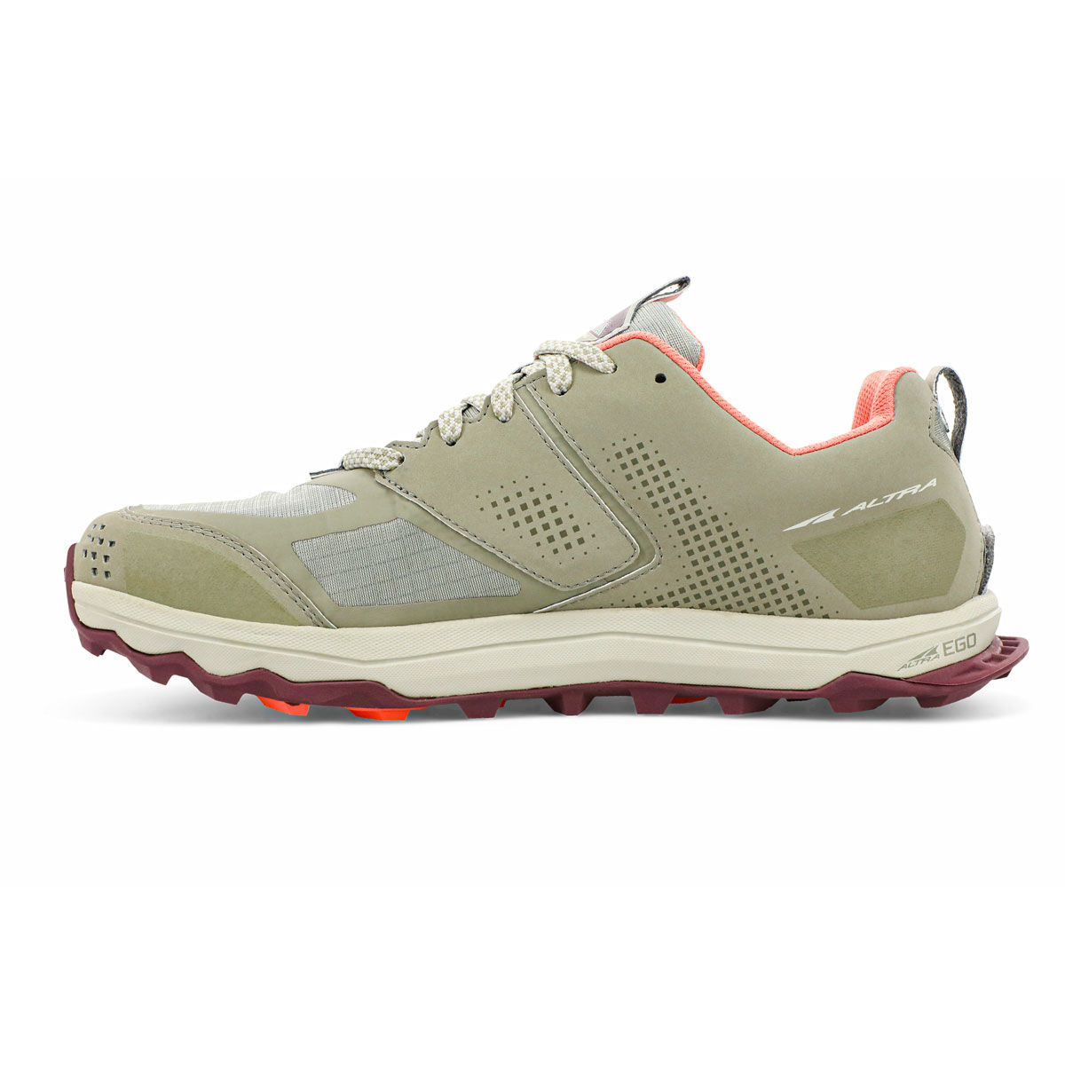 Women's Altra Lone Peak 5 Trail Running Shoe - Color: Khaki - Size: 5.5 - Width: Regular, Khaki, large, image 2