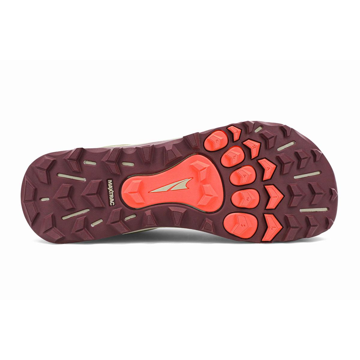 Women's Altra Lone Peak 5 Trail Running Shoe - Color: Khaki - Size: 5.5 - Width: Regular, Khaki, large, image 4