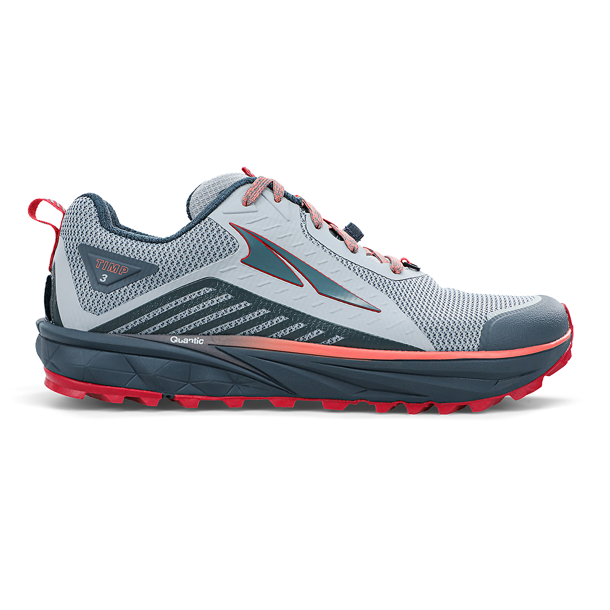 Women's Altra Timp 3 Trail Running Shoe - Color: Gray/Pink - Size: 5.5 - Width: Regular, Gray/Pink, large, image 1