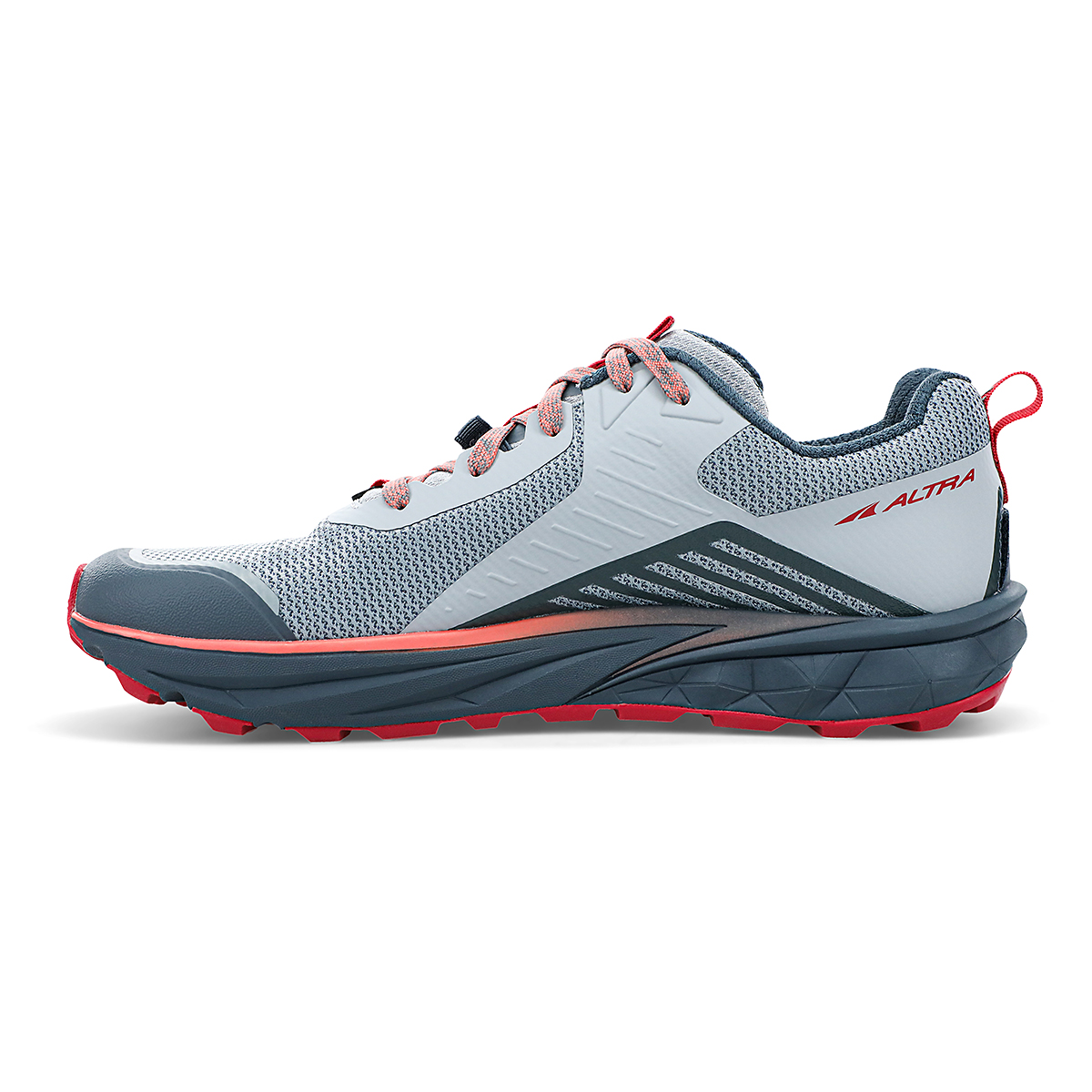 Women's Altra Timp 3 Trail Running Shoe - Color: Gray/Pink - Size: 5.5 - Width: Regular, Gray/Pink, large, image 2