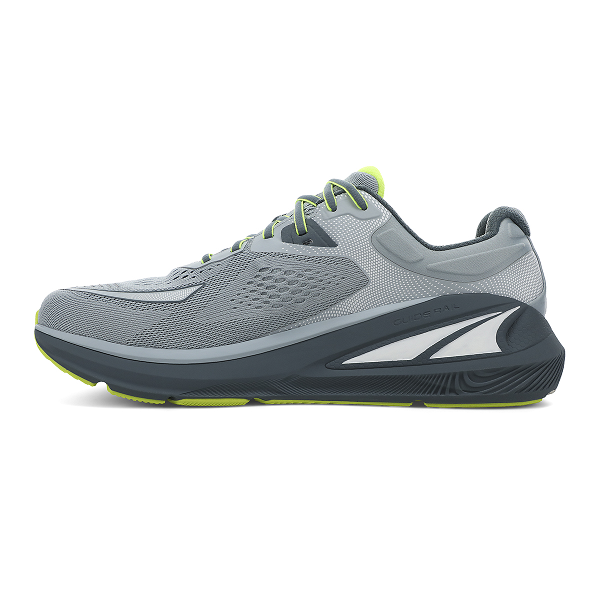 Men's Altra Paradigm 6 Running Shoe - Color: Gray/Lime - Size: 7 - Width: Regular, Gray/Lime, large, image 2