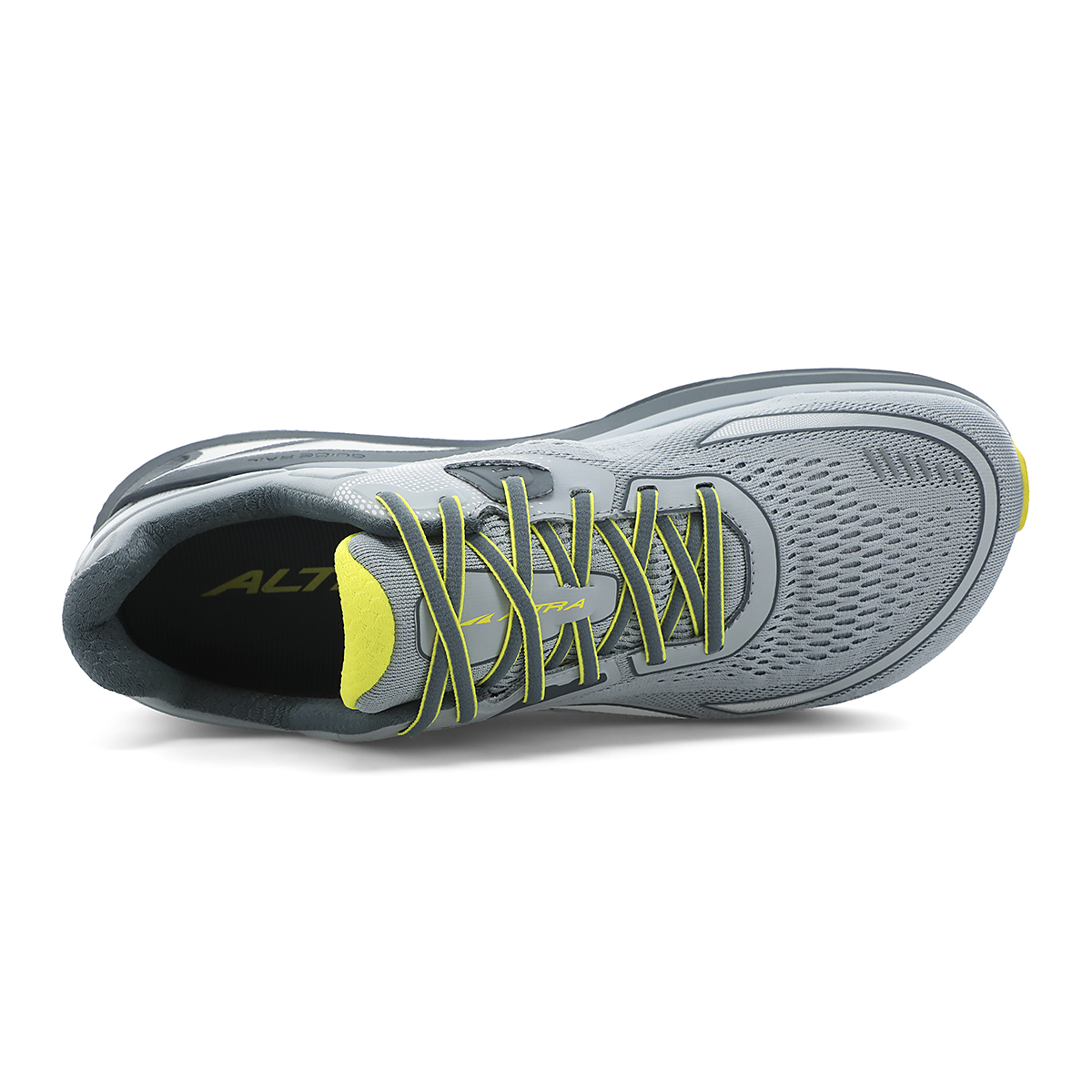 Men's Altra Paradigm 6 Running Shoe - Color: Gray/Lime - Size: 7 - Width: Regular, Gray/Lime, large, image 3