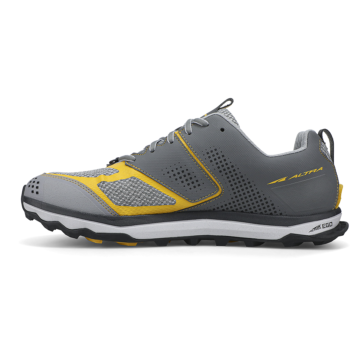Men's Altra Lone Peak 5 10th Anniversary Special Edition Trail Running Shoe - Color: Gray/Yellow - Size: 8 - Width: Regular, Gray/Yellow, large, image 2