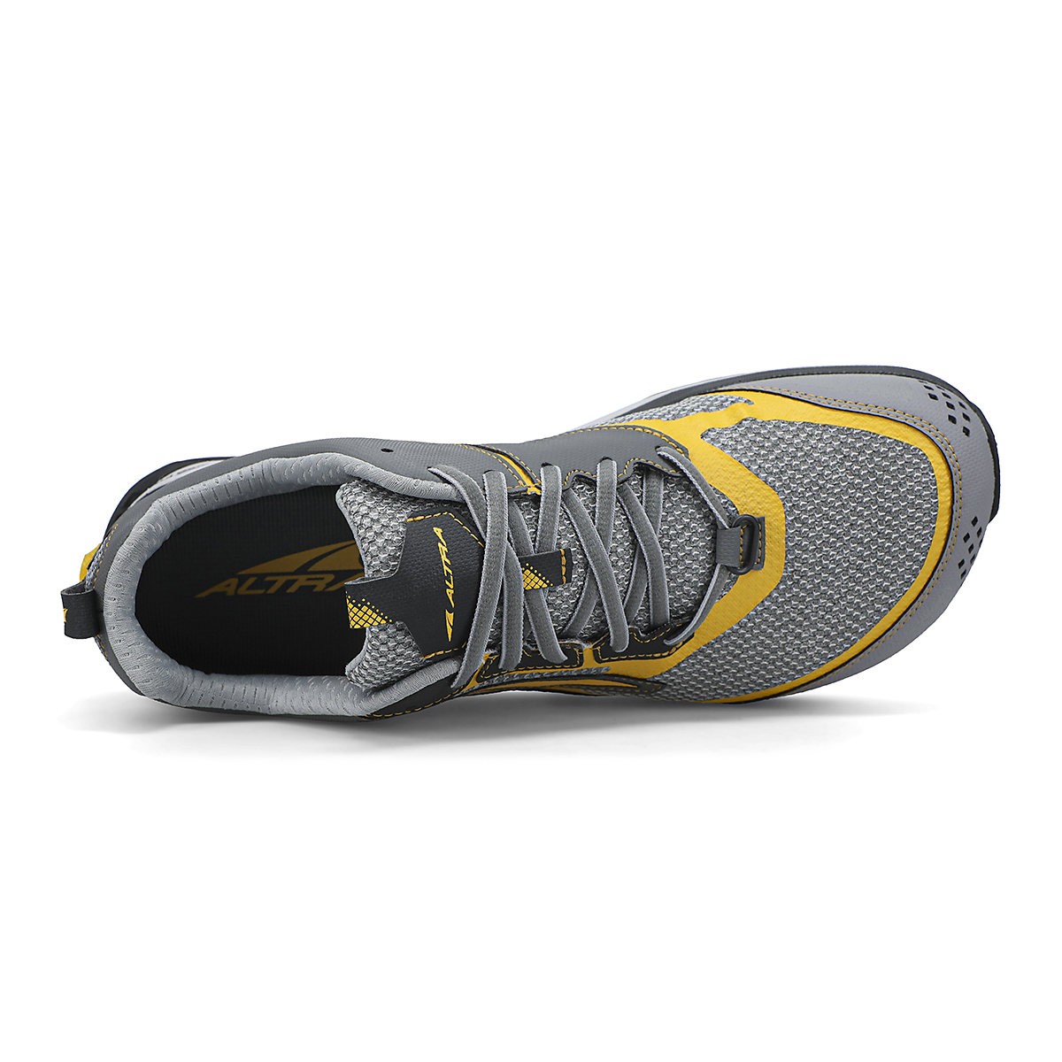 Men's Altra Lone Peak 5 10th Anniversary Special Edition Trail Running Shoe - Color: Gray/Yellow - Size: 8 - Width: Regular, Gray/Yellow, large, image 3
