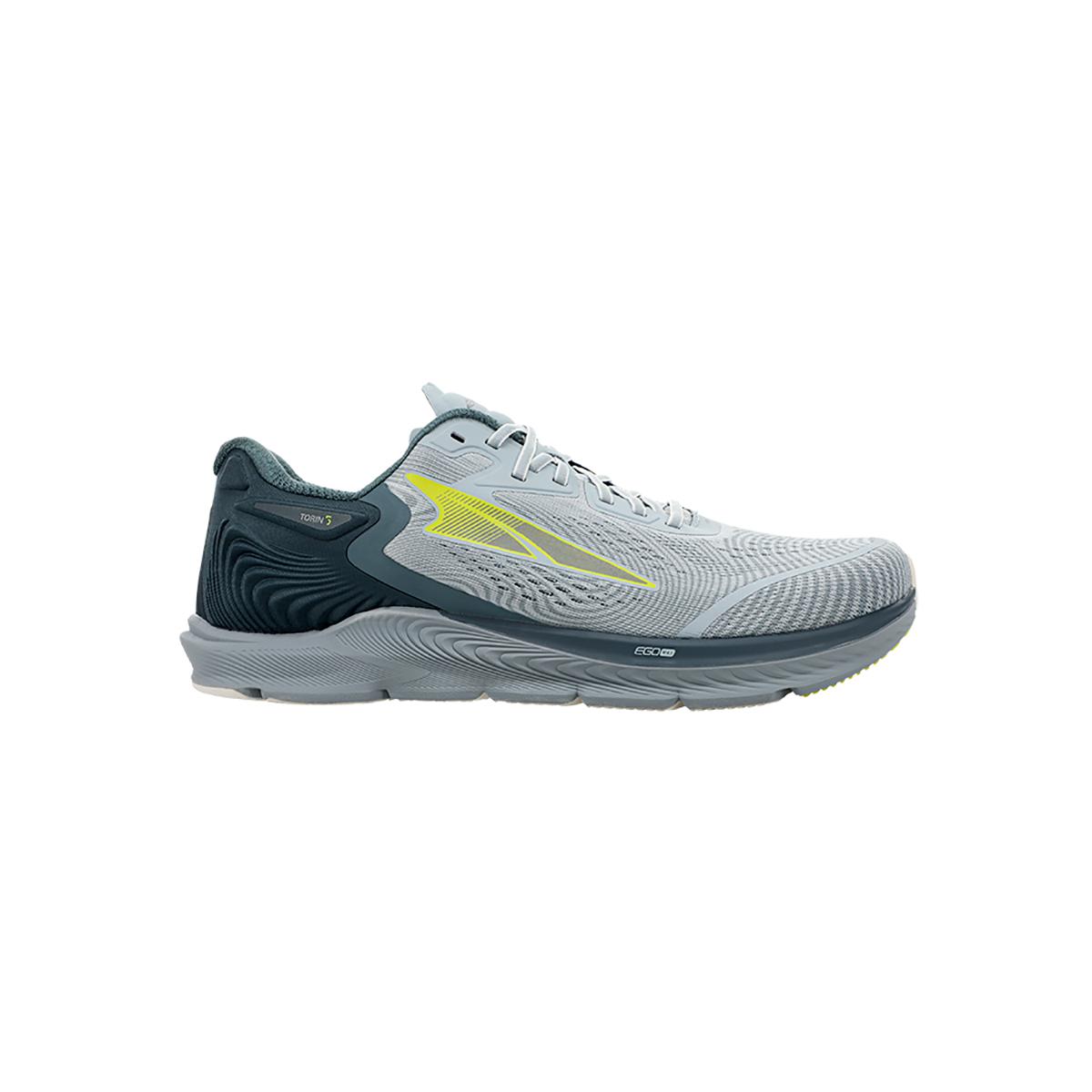 Men's Altra Torin 5 Running Shoe - Color: Gray/Lime - Size: 7 - Width: Regular, Gray/Lime, large, image 1